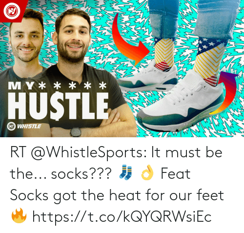 Heat: RT @WhistleSports: It must be the... socks??? 🧦 👌   Feat Socks got the heat for our feet 🔥  https://t.co/kQYQRWsiEc