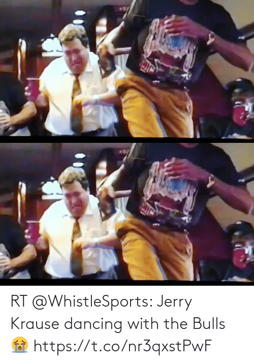 Dancing: RT @WhistleSports: Jerry Krause dancing with the Bulls 😭 https://t.co/nr3qxstPwF