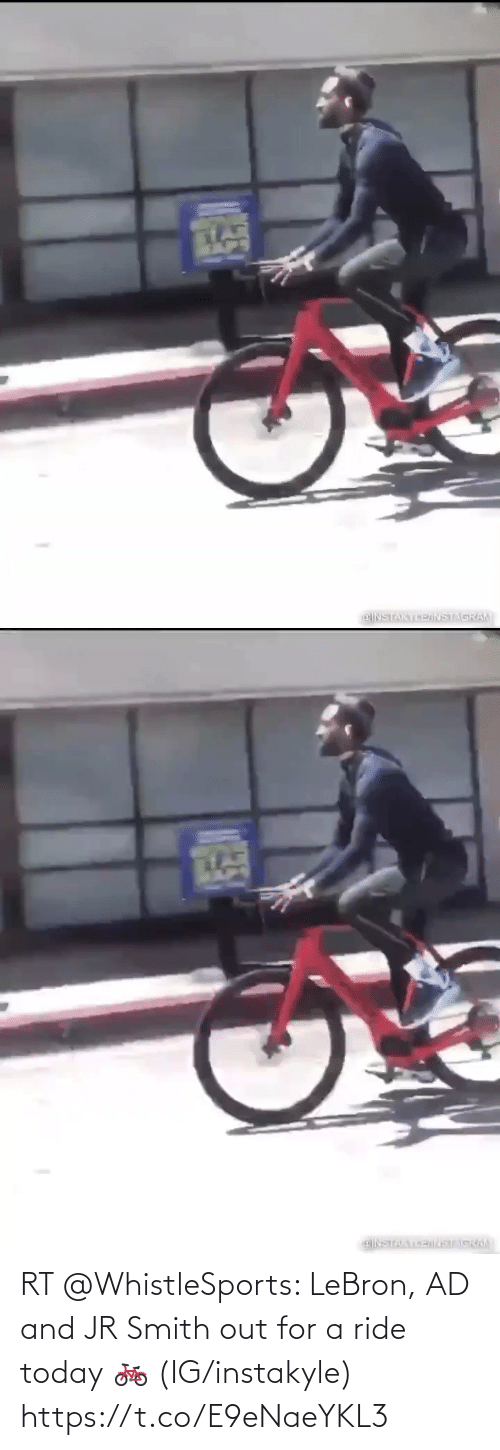 ride: RT @WhistleSports: LeBron, AD and JR Smith out for a ride today 🚲   (IG/instakyle) https://t.co/E9eNaeYKL3