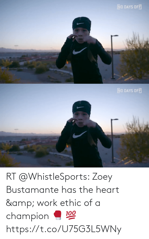 the heart: RT @WhistleSports: Zoey Bustamante has the heart & work ethic of a champion 🥊  💯 https://t.co/U75G3L5WNy
