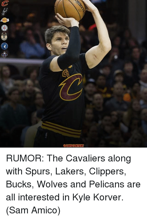 Korver: RUMOR: The Cavaliers along with Spurs, Lakers, Clippers, Bucks, Wolves and Pelicans are all interested in Kyle Korver. (Sam Amico)