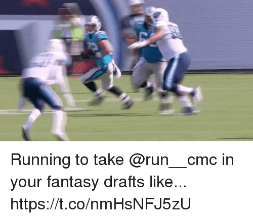 Memes, Run, and Running: Running to take @run__cmc in your fantasy drafts like... https://t.co/nmHsNFJ5zU