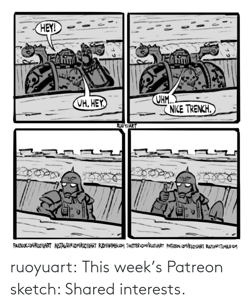 Shared: ruoyuart:  This week's Patreon sketch: Shared interests.