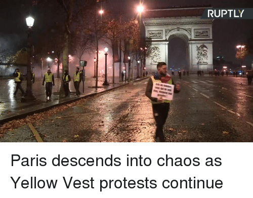 Protests: RUPTLY Paris descends into chaos as Yellow Vest protests continue
