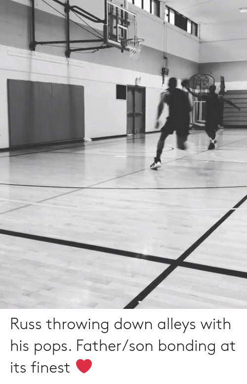 russ: Russ throwing down alleys with his pops. Father/son bonding at its finest ❤️