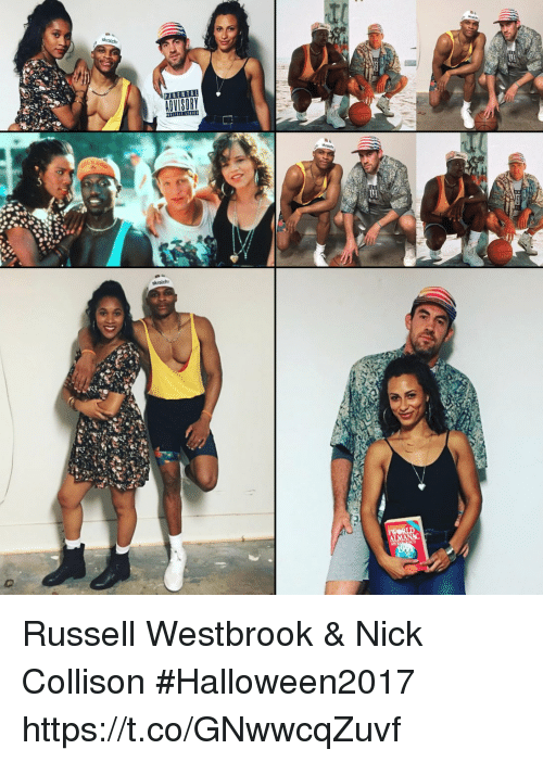 Memes, Russell Westbrook, and Nick: Russell Westbrook & Nick Collison #Halloween2017 https://t.co/GNwwcqZuvf