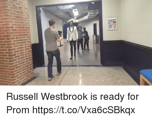 Russell Westbrook, Sports, and For: Russell Westbrook is ready for Prom https://t.co/Vxa6cSBkqx