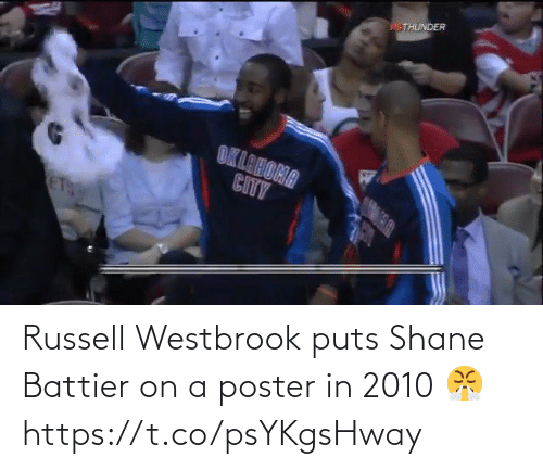 westbrook: Russell Westbrook puts Shane Battier on a poster in 2010 😤 https://t.co/psYKgsHway