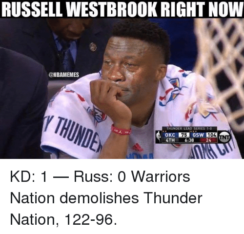 Warriors Clippers Box Score Game 6: Funny Russell Westbrook Memes Of 2016 On SIZZLE