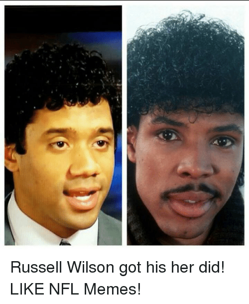 Russell Wilson: Russell Wilson got his her did!