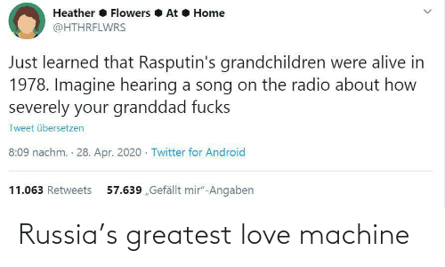 greatest: Russia's greatest love machine