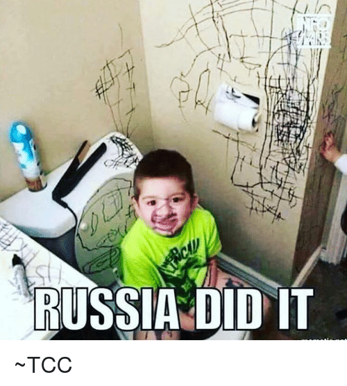 Memes, Russia, and 🤖: RUSSIA DID IT ~TCC
