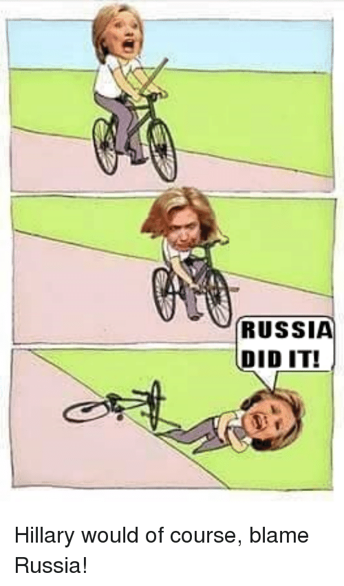 Russia Made Clinton Fall off Her Bike