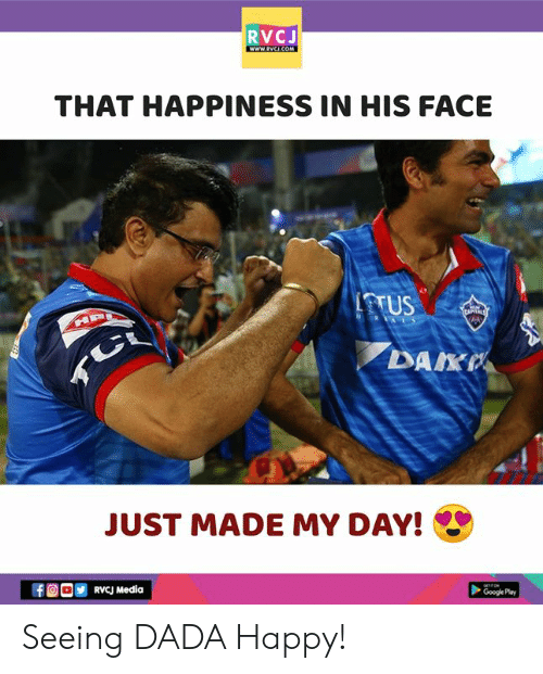 Happiness In: RVCJ  THAT HAPPINESS IN HIS FACE  TTUS  DAKP  JUST MADE MY DAY!  ORVcJ Media  Google Pay Seeing DADA Happy!