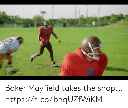 baker: RVT  @NFLRT  You Tube Baker Mayfield takes the snap... https://t.co/bnqUZfWiKM