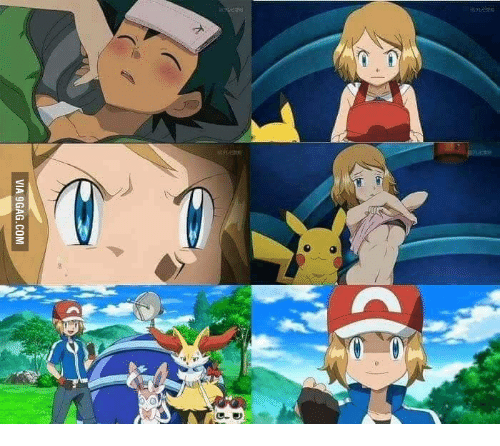 serena pokemon naked