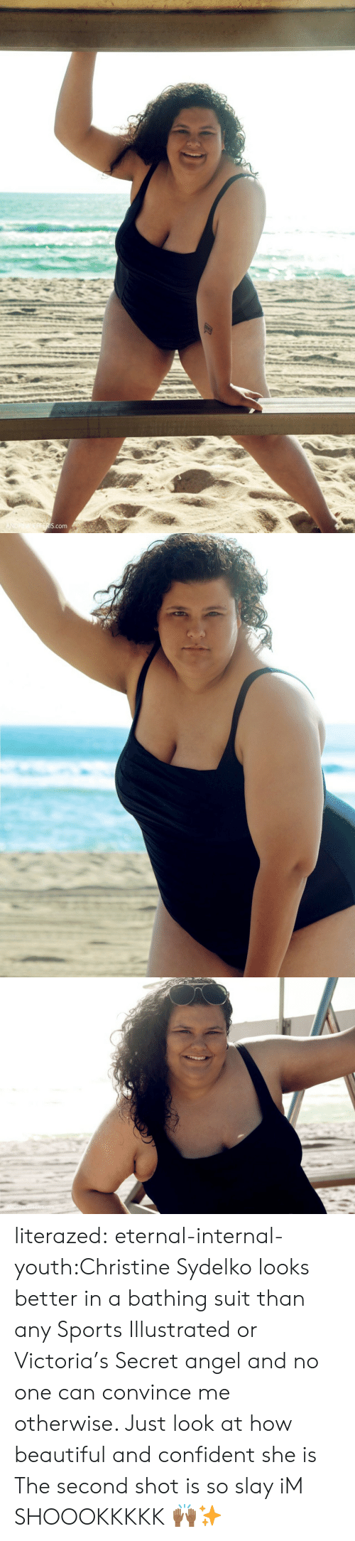 bathing suit: S.com literazed:  eternal-internal-youth:Christine Sydelko looks better in a bathing suit than any Sports Illustrated or Victoria's Secret angel and no one can convince me otherwise. Just look at how beautiful and confident she is  The second shot is so slay iM SHOOOKKKKK 🙌🏾✨