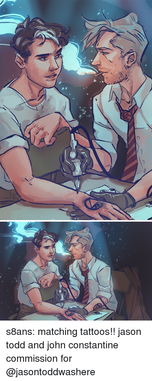 constantine: s8ans: matching tattoos!! jason todd and john constantine commission for @jasontoddwashere