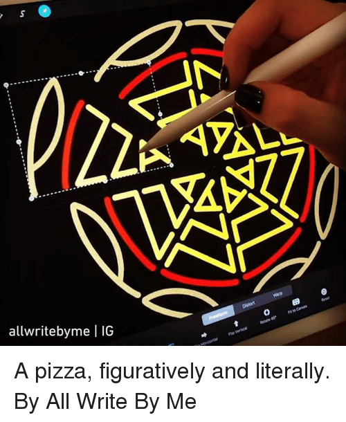 Dank, Pizza, and 🤖: SA  allwritebyme | IG  0 9 A pizza, figuratively and literally.  By All Write By Me