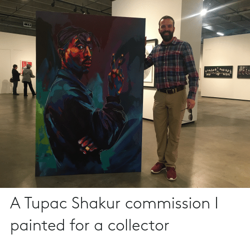 Shakur: Sabine Pigale  Tereso Booth Brown A Tupac Shakur commission I painted for a collector