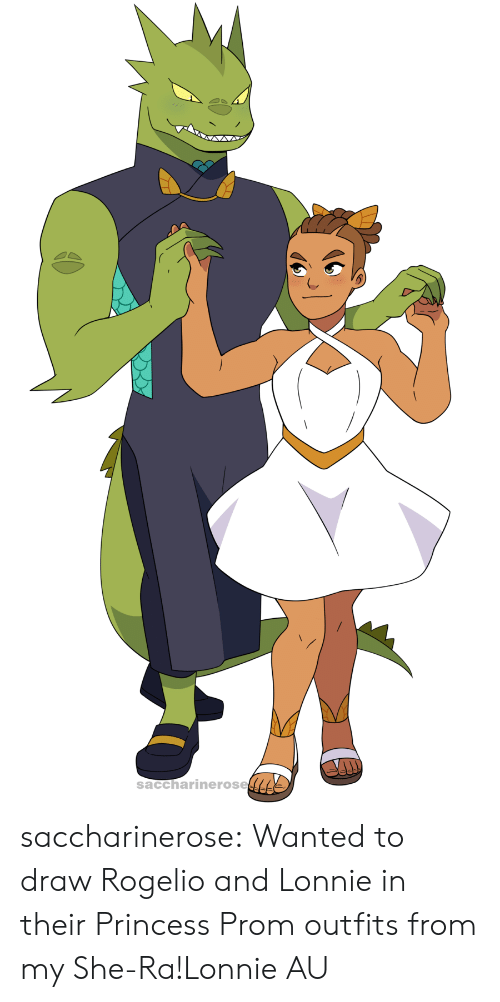 outfits: saccharinerose saccharinerose:  Wanted to draw Rogelio and Lonnie in their Princess Prom outfits from my She-Ra!Lonnie AU