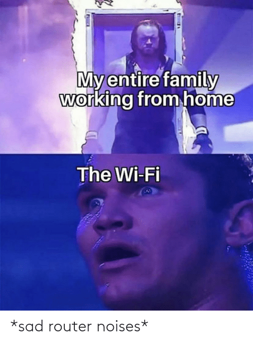 Funny, Router, and Sad: *sad router noises*