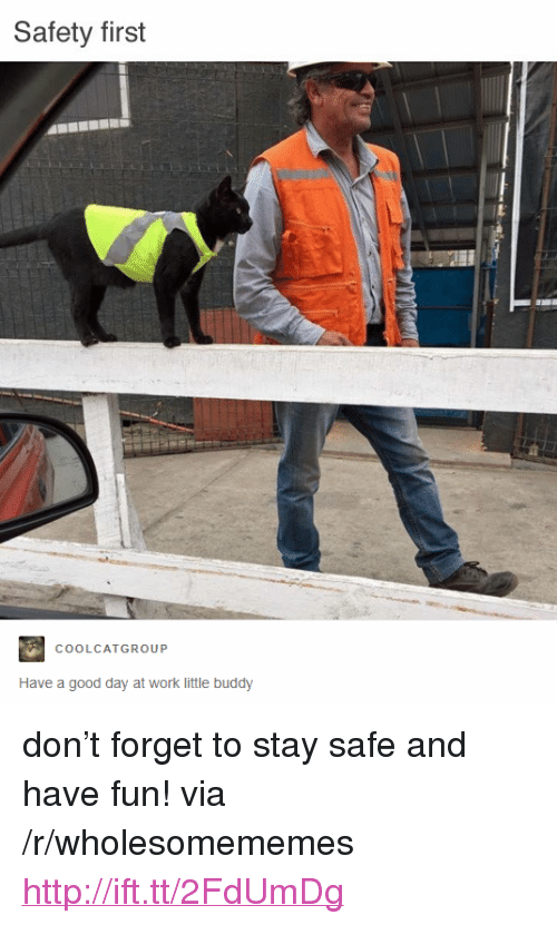 """Work, Good, and Http: Safety first  COOLCATGROUP  Have a good day at work little buddy <p>don't forget to stay safe and have fun! via /r/wholesomememes <a href=""""http://ift.tt/2FdUmDg"""">http://ift.tt/2FdUmDg</a></p>"""