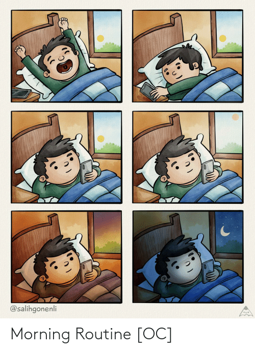 routine: @salihgonenli Morning Routine [OC]