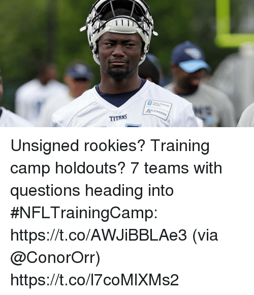Salnt Thomas CENSION TITANS Unsigned Rookies? Training