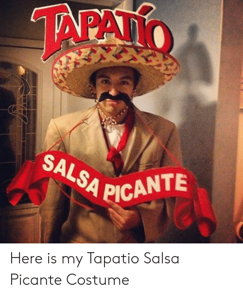picante: SALSA PICANTE  '4 Here is my Tapatio Salsa Picante Costume