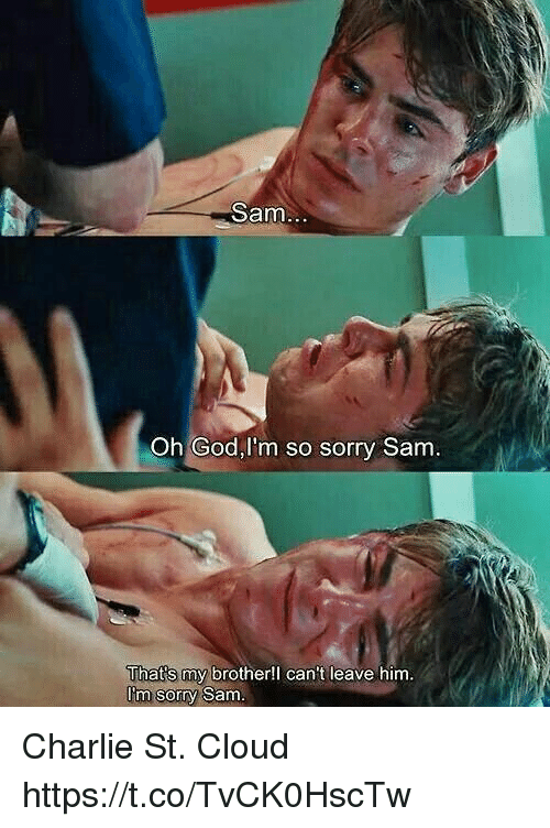 Charlie, God, and Memes: Sam  Oh God,I'm so sorry Sam  That's my brother!l can't leave him  Itm sorry Sam Charlie St. Cloud https://t.co/TvCK0HscTw