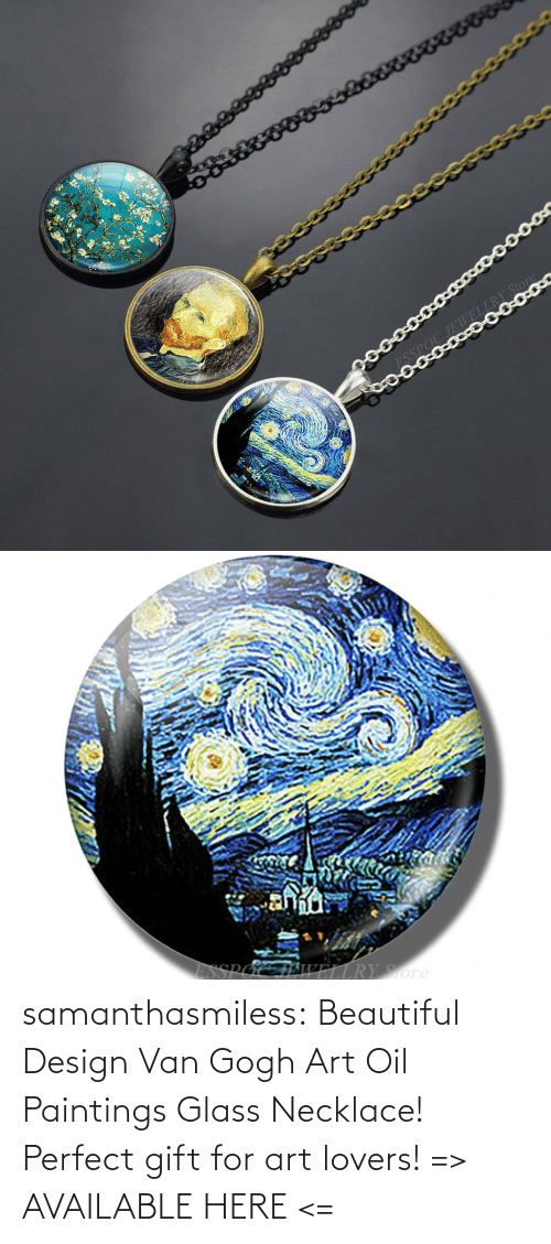 perfect: samanthasmiless:  Beautiful Design Van Gogh Art Oil Paintings Glass Necklace! Perfect gift for art lovers! => AVAILABLE HERE <=