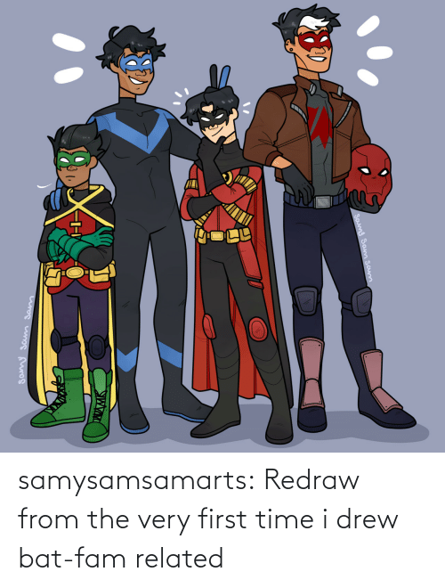fam: samysamsamarts:  Redraw from the very first time i drew bat-fam related