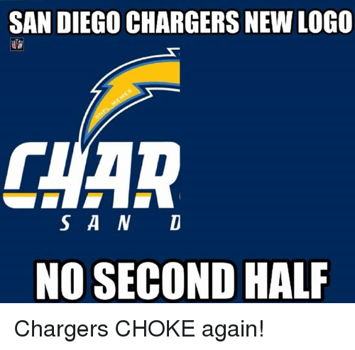 San Diego Chargersnew Logo S A N D No Second Half Chargers