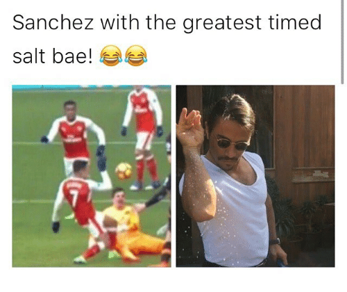Salt Bae: Sanchez with the greatest timed  salt bae!
