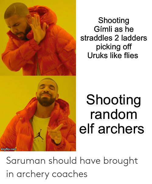 archery: Saruman should have brought in archery coaches