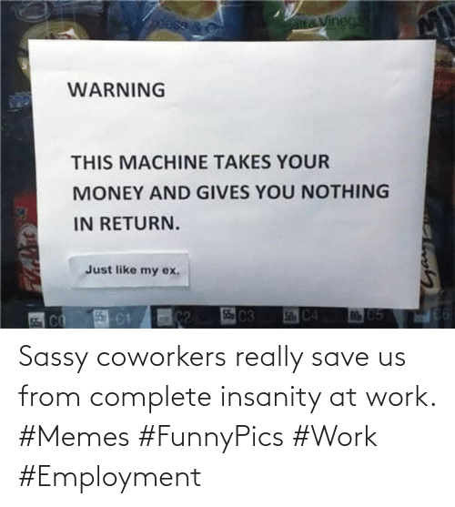 employment: Sassy coworkers really save us from complete insanity at work. #Memes #FunnyPics #Work #Employment