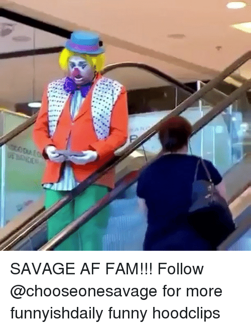 Af, Fam, and Funny: SAVAGE AF FAM!!! Follow @chooseonesavage for more funnyishdaily funny hoodclips