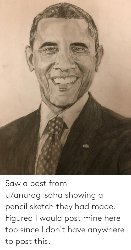 Would Post: Saw a post from u/anurag_saha showing a pencil sketch they had made. Figured I would post mine here too since I don't have anywhere to post this.