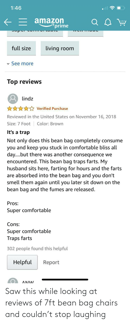 chairs: Saw this while looking at reviews of 7ft bean bag chairs and couldn't stop laughing