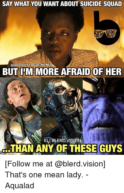 SAY WHAT YOU WANT ABOUT SUICIDE SQUAD MEMES BUTIHM MORE