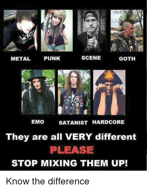The Difference Between Emo And Goth