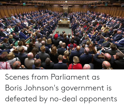 johnsons: Scenes from Parliament as Boris Johnson's government is defeated by no-deal opponents
