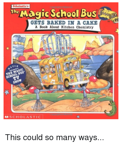 Magic School Bus Baked In A Cake