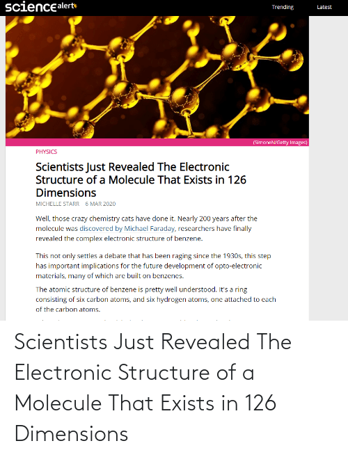 Revealed: Scientists Just Revealed The Electronic Structure of a Molecule That Exists in 126 Dimensions