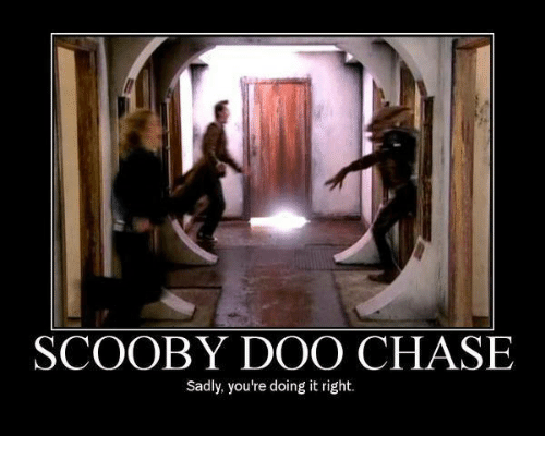 Youre Doing It Right: SCOOBY DOO CHASE  Sadly, you're doing it right
