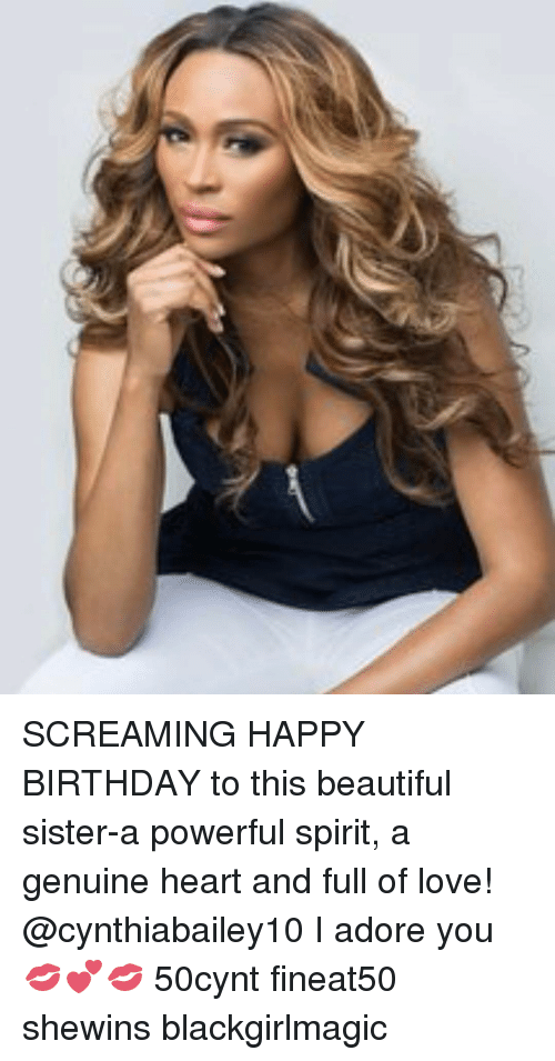 adore you: SCREAMING HAPPY BIRTHDAY to this beautiful sister-a powerful spirit, a genuine heart and full of love! @cynthiabailey10 I adore you 💋💕💋 50cynt fineat50 shewins blackgirlmagic