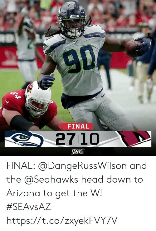 Arizona: SEAHAWKS  9D  NALS  FINAL  27 10  $4 FINAL: @DangeRussWilson and the @Seahawks head down to Arizona to get the W!  #SEAvsAZ https://t.co/zxyekFVY7V