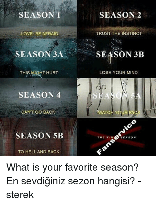 which season is your favorite Current poll previous polls poll #1 let us know, who is your favorite samcro member  what has been your favorite season so far in the soa series  start a discussion discussions about polls message from a wikia contributor a fandom user you really should change the poll 4 options the club did not go to ireland they went to the uk.