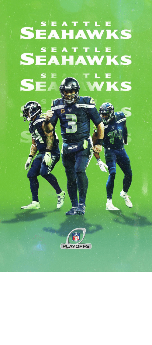 Seattle Seahawks: SEATTLE  SEAHAWKS  SEAT TLE  SEAHAWKS  SE T TLE  SEA  WKS  SEAMAW  NFD  PLAYOFFS  www @Titans @49ers @packers @Saints @Eagles #Seahawks #NFLPlayoffs #WeReady https://t.co/vh3MyUYd4D